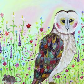 Barn Owl Hunts the Prairie  by Aren Dummer