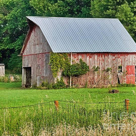 Barn With Outhouse by Kathy M Krause