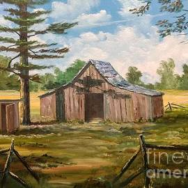 Barn With Shed by Lee Piper
