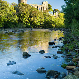 Barnard Castle and the River Tees, Durham, England by Justin Foulkes