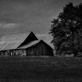 Barnyard Showers in BW by Michael R Anderson