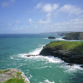Barras Nose To Cambeak From Tintagel Cornwall by Richard Brookes