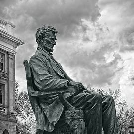 Bascom Hall Lincoln Statue 3  UW Madison - Wisconsin by Steven Ralser