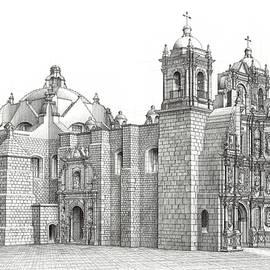 Basilica of La Soledad, Oaxaca, Mexico  by Mayolo Ramirez