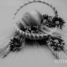 Black and White Basket  by Suzanne Wilkinson