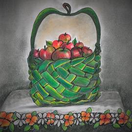 Basket of apples by Tara Krishna