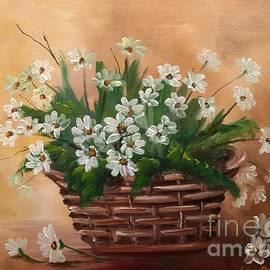Basket Of Daisies  by Lee Piper