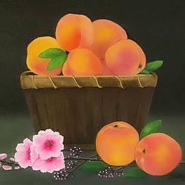 Basket of Peaches by Shirley Dutchkowski