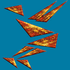 Basketball Player on Fire Tangram Expression by Frantz Cialec