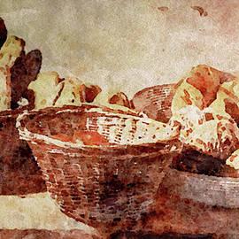 Baskets of Artisan Bread by Susan Maxwell Schmidt