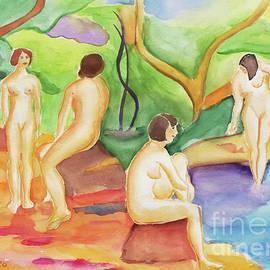 Bathers by Johanna Zettler