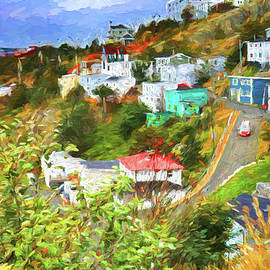Battery Hill - St.Johns, Newfoundland - Painting by Tatiana Travelways