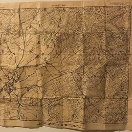 Battle Of The Buldge Pilot Map  by Donna Felton