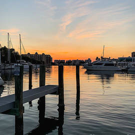 Bayfront Park Marina Sunset by Gary F Richards