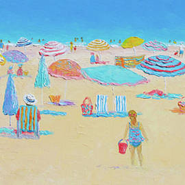 Beach Art - Every Summer has a story by Jan Matson