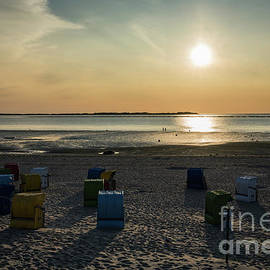 Beach at Sunset by Eva Lechner