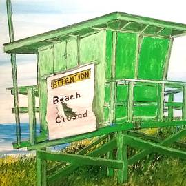 Beach Closed by Irving Starr