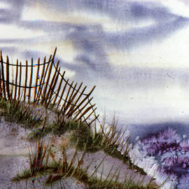 OBX Beach Fence on National Seashore by Catherine Ludwig Donleycott