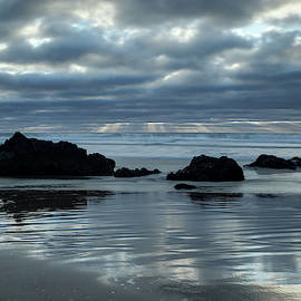 Beach Reflections 2 by Morgan Wright