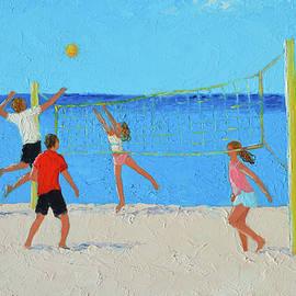 Beach Volleyball by Jan Matson