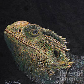 Bearded Dragon Painting by Dwight Cook