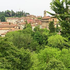 Beautiful Bergamo Lombardy Italy - Citta Alta Upper City and Rocca di Bergamo Castle by Georgia Mizuleva
