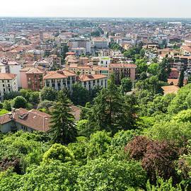 Beautiful Bergamo Lombardy Italy - Citta Bassa Lower City and Po Valley from the Venetian Walls by Georgia Mizuleva