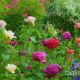 Beautiful rose garden by Larisa Fedotova