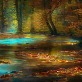 Beautiful forest stream by Jerzy Czyz