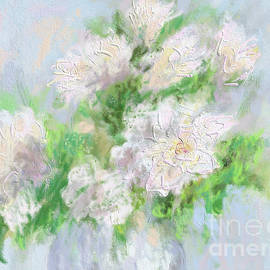 Beautiful white flowers by Olga Malamud-Pavlovich