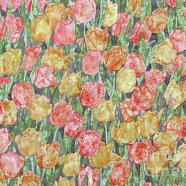 Bed Of Tulips  by Kim Tran