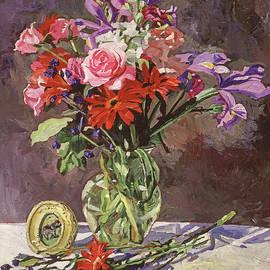 Bedroom Flower Still Life by David Lloyd Glover