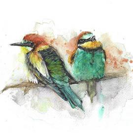 Bee - Eaters birds by Agnieszka Kowalska Rustica Art