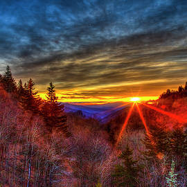 Before The Dawn 2 Great Smoky Mountains Sunrise Beech Flats Prong Newfound Gap Landscape Art by Reid Callaway