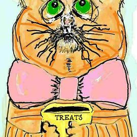 Begging Cat by Kathy Barney