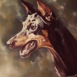 Beloved Doberman by Barbara Keith