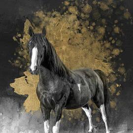 Beloved Pinto Horse Gold by Elisabeth Lucas