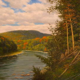 Bend In The Esopus by Barry DeBaun