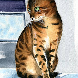 Bengal Cat Painting by Dora Hathazi Mendes