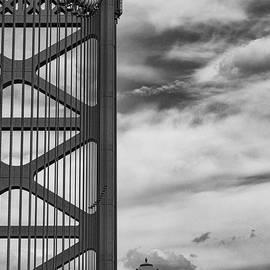 Benjamine Franklin Suspension Bridge and Lamp Post 2 by Bob Phillips