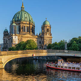 Berlin Cathedral And Bridge At Sunset by Artur Bogacki