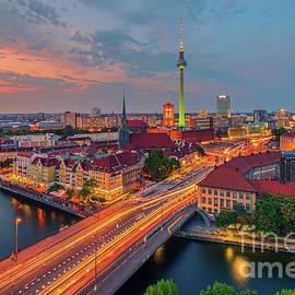 Berlin Skyline by Henk Meijer Photography