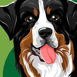 Bernese Mountain Dog by Victor Irizarry