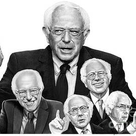 Bernie Sanders drawings by Murphy Art Elliott