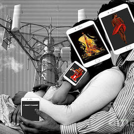 Beware, the next generation of Smartphone people Digital collage by TeAnne Pantony