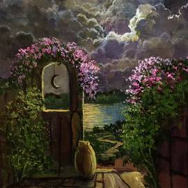 Beyond The Garden Gate Leads Onward, Upward And Beyond. by Randy Burns