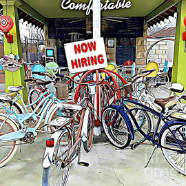 Bicycles in Comfort Texas by Tracy Ruckman