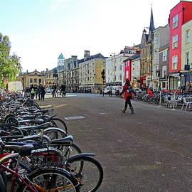 Bicycles in Front of Balliol College by Lyuba Filatova