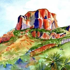 Big Bend Casa Grande Peak by Carlin Blahnik CarlinArtWatercolor