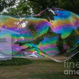 Big Bubble Swallows House by Linda Howes